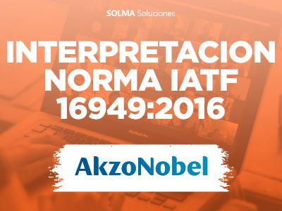 Interpretación Norma IATF 16949-2016